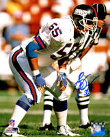 Gary Reasons Signed New York Giants Action 8x10 Photo - SCHWARTZ