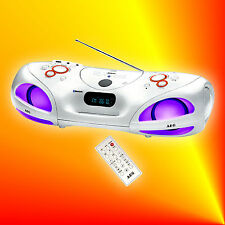 AEG SR 4371 Bluetooth Stereoanlage Radio USB MP3 CD Player Kopfhörerbuchse Licht