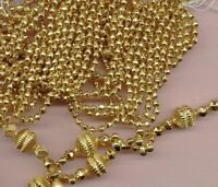24 KT GOLD PLATED MERCURY GLASS BEADS HOLLOW Czech 4mm Feather Tree size Lot