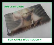 FOR APPLE IPOD TOUCH 4 -STAR WARS YODA- HARD BACK CASE COVER-SCREEN PRO & CLOTH