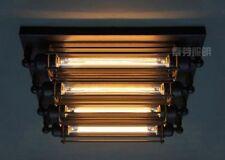 Grand Edison 4  Bulb Steampunk E27 Light Wall Sconce / Flushmount Ceiling Lamp