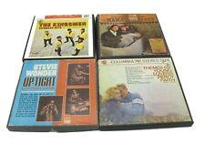 Vintage Reel to Reel Tape Collection (6) Tapes 4 Seasons, Stevie Wonder + More