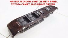 POWER WINDOW MASTER SWITCH WITH PANEL FOR RIGHT DRIVER TOYOTA CAMRY 2015-16