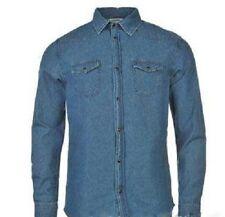 Chemise Homme Denim Classic Western lourd 100/% Coton Jean Stud Boutons Perle Aztec