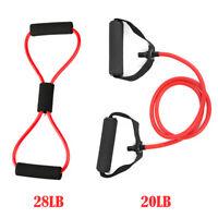 2x Yoga Pull Rope Elastic Exercise 8-Shape Resistance Band Gym Fitness Training