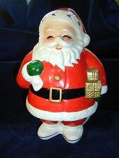 Napco Santa Claus Planter Candy Dish Foil Sticker National Potteries Cleveland