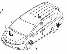 2014-2017 Honda Odyssey Front & Rear Splash Guards Genuine Honda Accessory