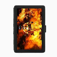 Firefighter D1 Black Cigarette Case / Metal Wallet Firemen Rescue Team