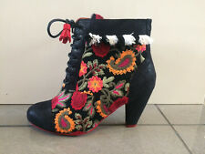 Poetic Licence By Irregular Choice 'Winters Tale' (A) Black Ankle Boots