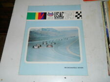 Racing Program 1974 USAC MAG INDY CARS