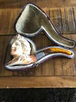 ANTIQUE VINTAGE English 1800'S MEERSCHAUM BEAUTIFUL VICTORIAN LADY