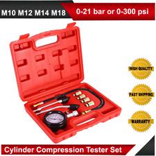 8Pcs Petrol Engine Compression Test Tester Automotive Motorcycle Car Gauge Tools