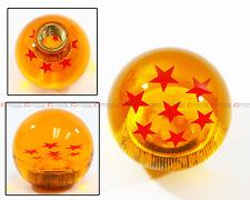 M10 X 1.5 JDM DRAGON BALL Z RED 7 STARS STYLE ACRYLIC ROUND SHIFT KNOB FOR HONDA