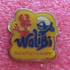 Pins Parc D'attraction WALIBI Mascotte SCHTROUMPF SMURF BD PEYO Kangourou