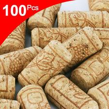 100x Premium Natural Straight Wine Corks Bottle Stopper Wooden Sealing Plug Caps