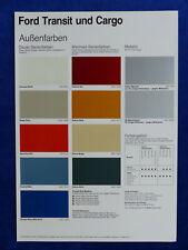 Ford Transit & Cargo - Farben & Polster - Prospekt Brochure 08.1984