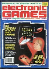 1981 Electronic Games Magazine Premier Issue Space Invaders Rare Video Game mag
