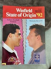 More details for 1992 new south wales nsw v queensland state of origin game 1 rugby programme vgc