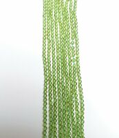 Natural Green Peridot Semi-Precious Gemstone Round Beads - 2mm