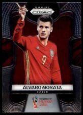 Panini Russia 2018 PRIZM Alvaro Morata Spain Base Card No. 199
