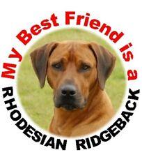 2 Rhodesian Ridgeback MBF Car Stickers By Starprint