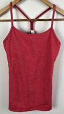 lululemon Womens Y Back Coral Yoga Active Athletic Wear Top Size US 4 AU 8