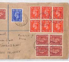 BR277 1951 GB Colour Change BOOKLET PANE FRANKING Registered Cover Simonstown