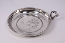 Antique Vtg Silver Plate Aesthetic Tropical Cockatoo Victorian Nappy Bird Dish