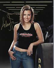 ASHLEY FORCE HAND SIGNED 8x10 COLOR PHOTO+COA       GORGEOUS      BEST POSE EVER