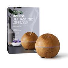 In Essence Mini USB Bamboo Wood Grain Finish Ultrasonic Diffuser