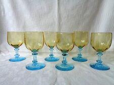 LEGRAS GEORGE SAND 6 WINE GLASSES VERRE A VIN DE COULEUR COLORÉ 301 19ÈME XIXÈME