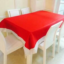 Red & White Santa Christmas Table Cloth Tablecloth Decoration Xmas Party