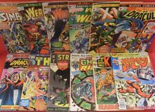 MARVEL UK SILVER BRONZE COMIC LOT STRANGE TALES GHOST RIDER THOR DRACULA X-MEN