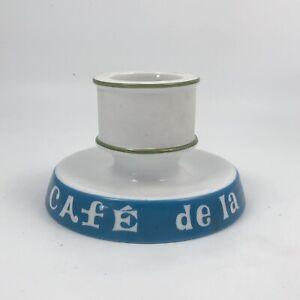 French Porcelain Match Striker Holder Pyrogen Cafe De La Rive Gauche