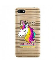 Case Sunny 3 Licorne Striped Unicorn Arc Sky Rainbow Star Transparent