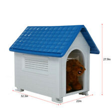 Portable Dog House Pet Shelter Kennel Weather Resistant In/Outdoor