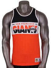 MITCHELL & NESS San Francisco Giants Tank Top sz M Medium Orange White Black MLB