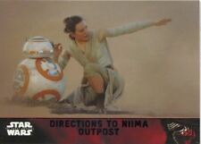 Star Wars Force Awakens S1 Purple Parallel Base Card #78 Directions to Niima Ou