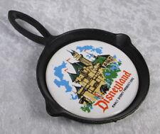 Vintage Disneyland Castle Cast Iron Trivet Tile Walt Disney Productions Japan