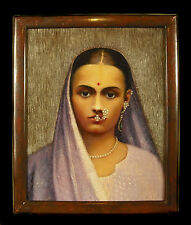 "F F Mac Mullen ""Joven India"" óleo sobre lienzo Indian girl Oil on canvas c 1900"