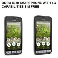 New Doro 8030 Easy To Use Android 4G LTE GPS WIFI HAC 4.5Unlocked Smartphone