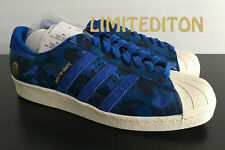 Adidas x Undefeated x BAPE Superstar 80V Blue Camo 10.5 DS SUPER RARE