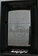 Hard Rock Cafe Florencia Italia Silver Chrome ZIPPO Lighter New