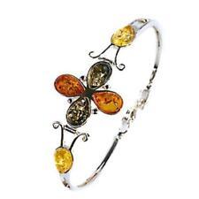 Bernstein Echtschmuck-Armbänder im Armreif-Stil aus Sterlingsilber