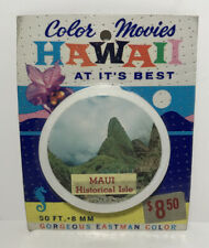 Color Movies Hawaii Maui Historical Isle Valley Island 50ft Super 8mm #101 NOS