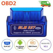 Super Mini ELM327 Bluetooth V2.1 OBD2 Car Diagnostic Tool Scanner Android Torque