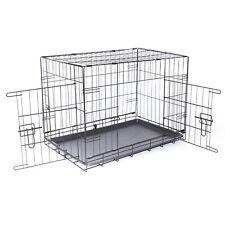 B-Ware: dibea faltbarer Hundetransportkäfig, schwarz (76x47x53 cm)