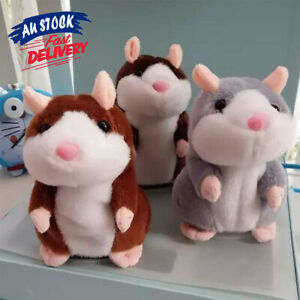 Talking Hamster Chat Mimicry Plush Toy Nod Mouse Record Xmas Doll Cute Pet