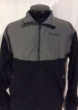 Black & Gray Interchange Columbia Fleece Sweatshirt Jacket 1X OW Supersize