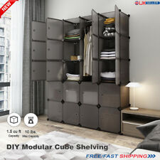 20cube DIY Cabinet Storage Modular Cupboard Wardrobe Organiser Bedroom Furniture